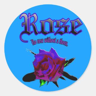 Sticker rose ink brush
