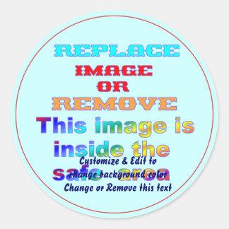 Sticker Round All sizes