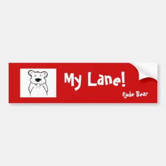 Sticker - Rude Bear Bumper Stickers