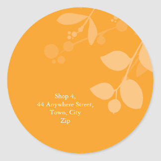 STICKER SEAL :: gum foliage 8