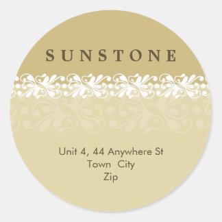 STICKER SEAL :: patterned sunstone 9