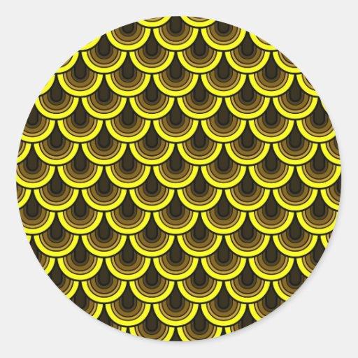 Sticker Seamless retro pattern