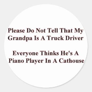 """Sticker Sheet 1 1/2"""" Piano Player G-Pa"""