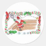 Sticker Sheet -Santa On Court