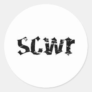 Sticker Sheet SCWR Logo