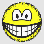 Fuzzy smile or smile after accidentally falling into the washing-machine  sticker_sheets