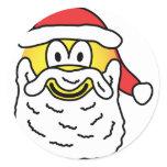 Santa emoticon   sticker_sheets