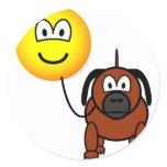 Dog walking emoticon   sticker_sheets