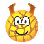 Giraffe emoticon   sticker_sheets