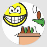 Bottle bank smile Recycling  sticker_sheets