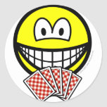Card playing smile   sticker_sheets