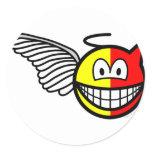 Angel or devil smile   sticker_sheets