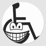 Wheelchair smile Sign  sticker_sheets