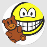 Teddy bear toy smile   sticker_sheets