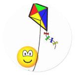Kite flying emoticon   sticker_sheets