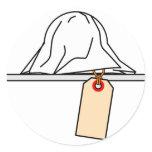 CSI:emoticon crime scene investigation Morgue toe tag sticker_sheets