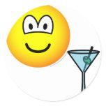 Martini drinking emoticon   sticker_sheets