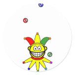 Juggling smile jester  sticker_sheets