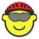 Biker buddy icon glasses  sticker_sheets