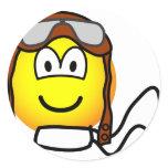 Pilot emoticon Old fashioned  sticker_sheets