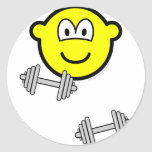 Dumbbells buddy icon Free weight training  sticker_sheets