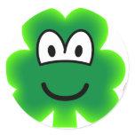 Clover emoticon   sticker_sheets
