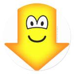 Down emoticon arrow  sticker_sheets