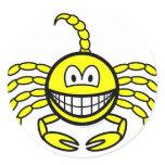 Scorpio smile Zodiac sign  sticker_sheets