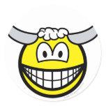 Taurus smile Zodiac sign  sticker_sheets