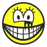Running makeup smile   sticker_sheets
