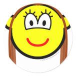 Brunette buddy icon   sticker_sheets