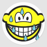 Sweating smile   sticker_sheets