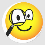 Magnifying glass emoticon Looking through  sticker_sheets