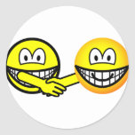 Hands shaking smilies   sticker_sheets