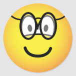 Emoticon with glasses   sticker_sheets