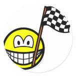 Checkered flag smile   sticker_sheets