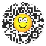 Qr Code emoticon 2D barcode  sticker_sheets