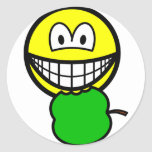 Apple eating smile   sticker_sheets