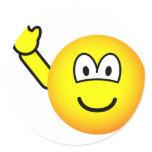 Bye emoticon waving  sticker_sheets