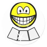 Face sun reflector smile   sticker_sheets