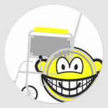 Wheelchair buddy icon Side view  sticker_sheets