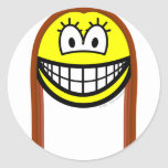 Long haired smile   sticker_sheets