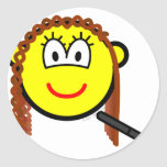 Hair straightening buddy icon   sticker_sheets