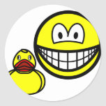 Rubber duck smile playing  sticker_sheets
