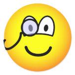 Monocle emoticon   sticker_sheets