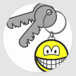 Key ring chain smile   sticker_sheets