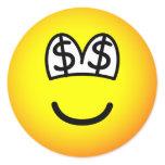 Dollar eyed emoticon   sticker_sheets