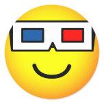 3D glasses emoticon   sticker_sheets