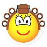 Curling emoticon Permed  sticker_sheets