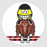 Horse show jumping smile Olympic sport Equestrian sticker_sheets